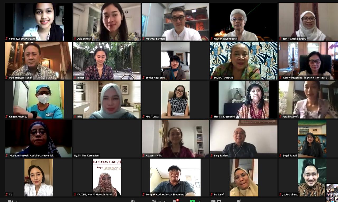 Peluncuran buku Didiet Maulana berjudul Kisah Kebaya